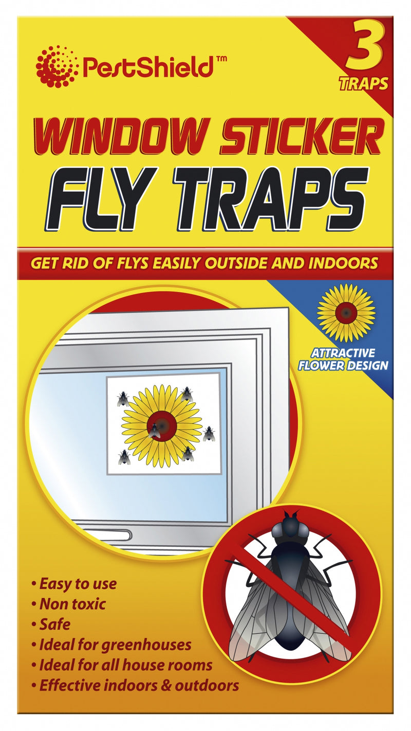 Fly Traps Window Sticker 3pk