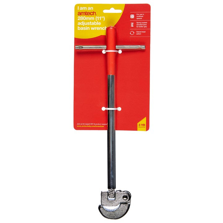 "11"" Adjustable Basin Wrench"