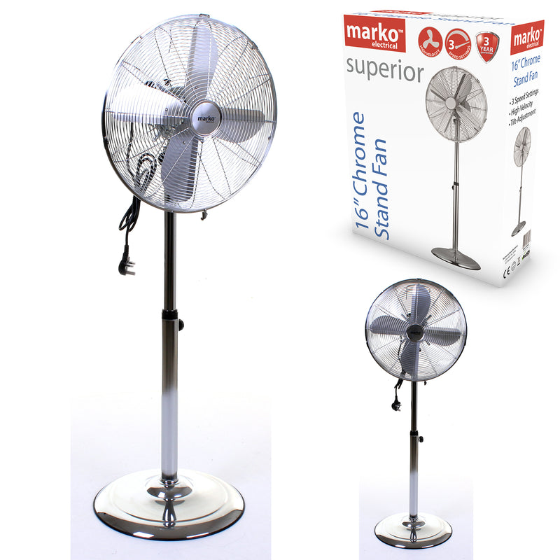 "16"" Chrome Pedestal Fan"