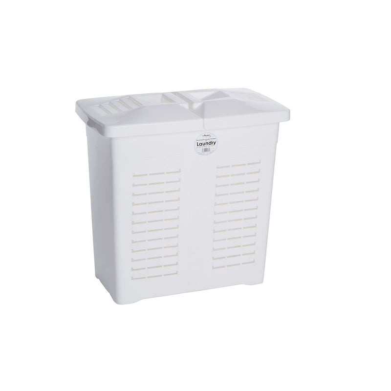 Laundry 75L Rectangular Hamper Ice White