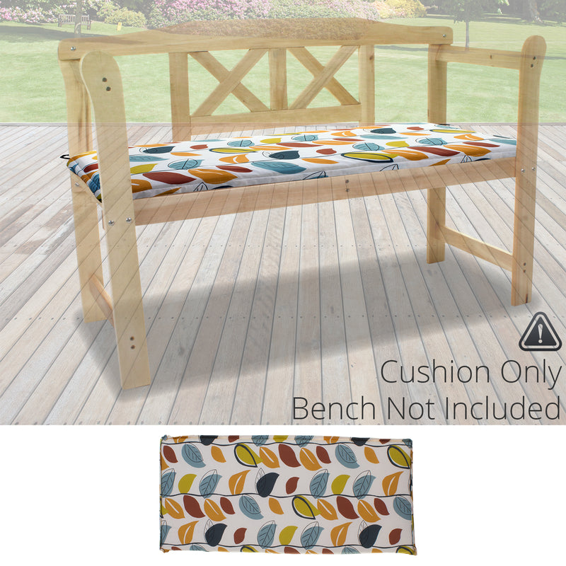 2 Seater Bench Cushion - Autumn Leaf