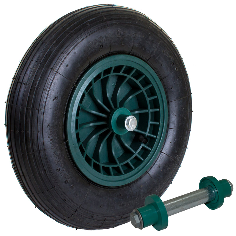 "14"" Wheelbarrow Wheel WITH AXLE"