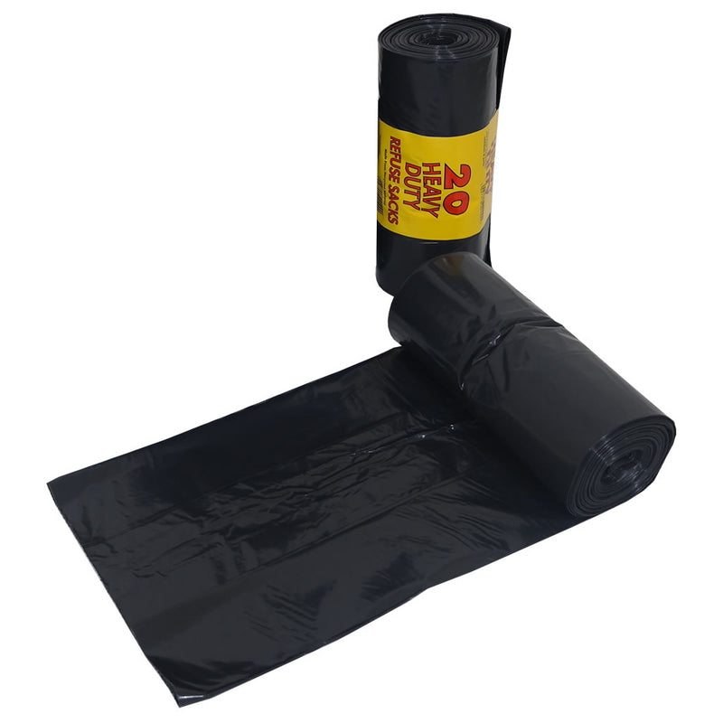 Heavy Duty Black Bags - 20PK Roll