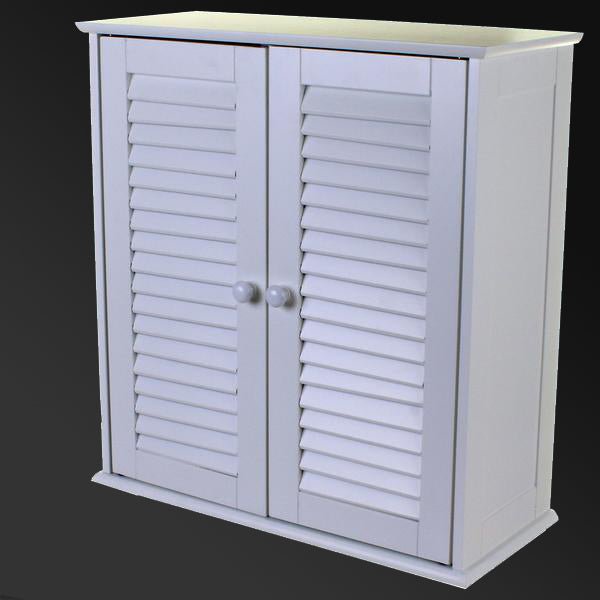 Bathroom Cabinet with Slatted Doors