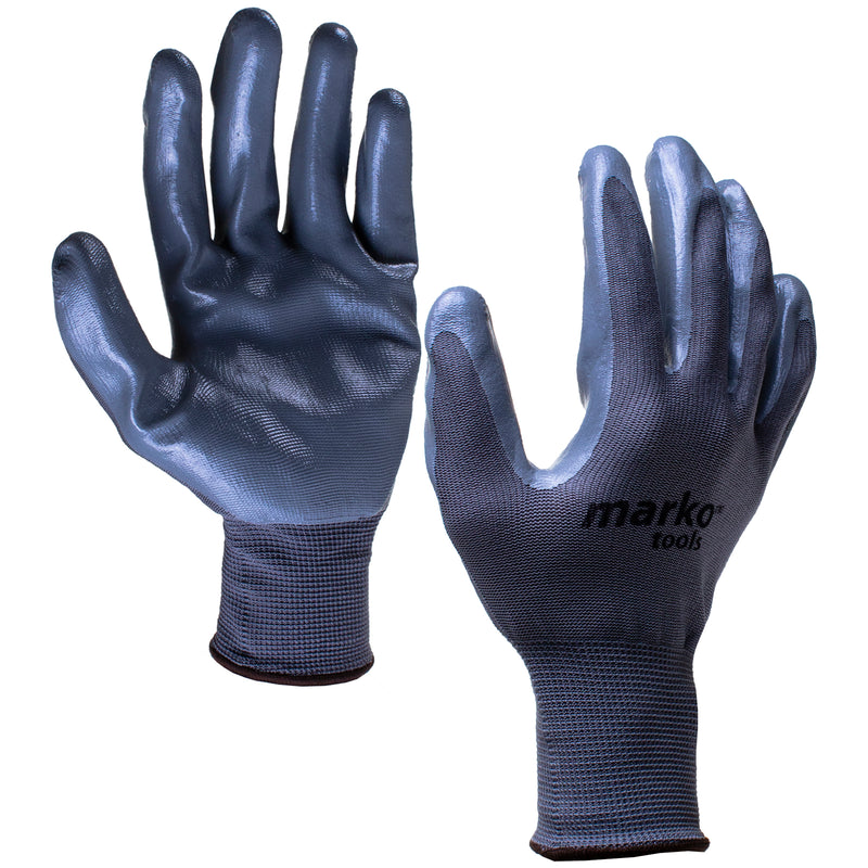 Grey Nitrile Work Gloves