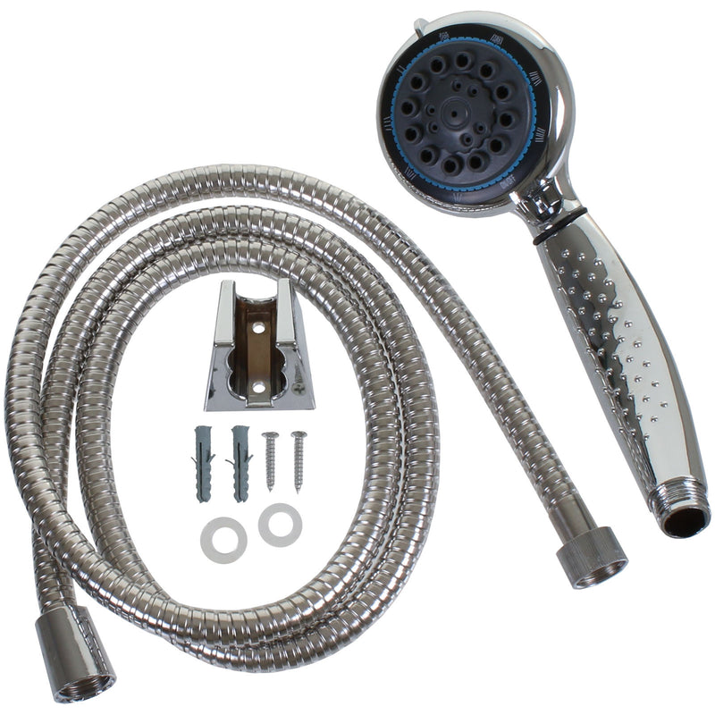 Chrome Shower Head + 1.5M Hose