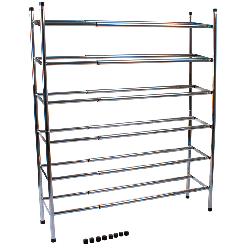 Chrome 3 Tier Shoe Rack