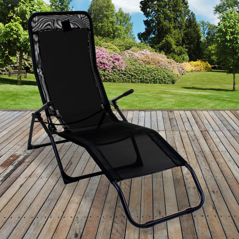 Black Rocker Lounger