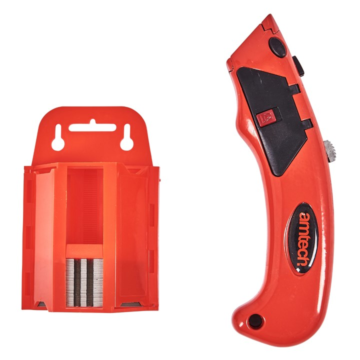 Auto Loading Utility Knife With 50 Blade Dispenser