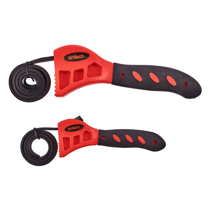 2pc Strap Wrench Set