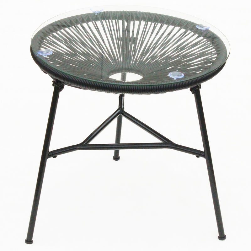 Rattan Egg Table - Black
