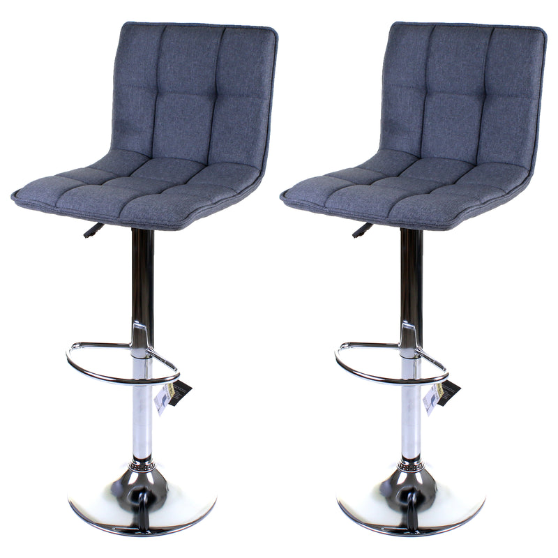 Aosta Bar Stool - Grey - Set of 2