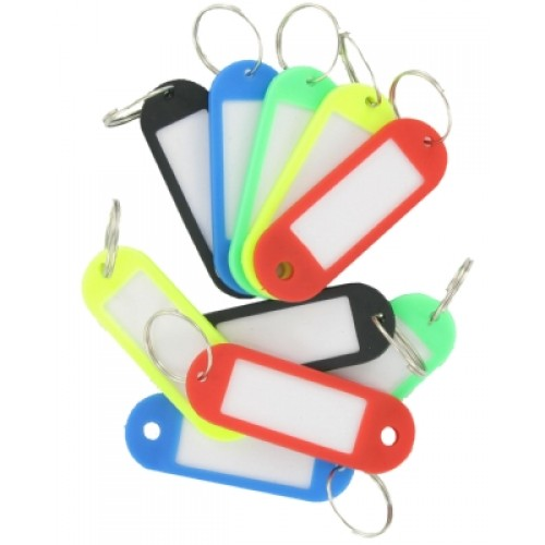 Large Coloured Key Tags 4pc