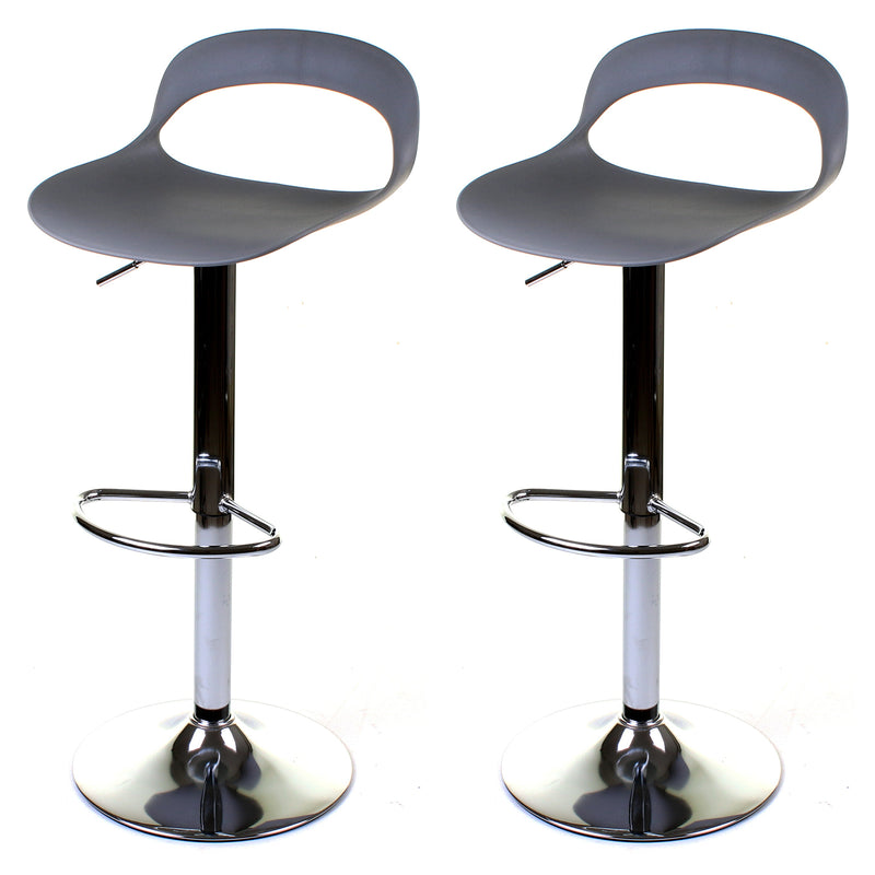 Foggia Bar Stool - Grey - Set of 2