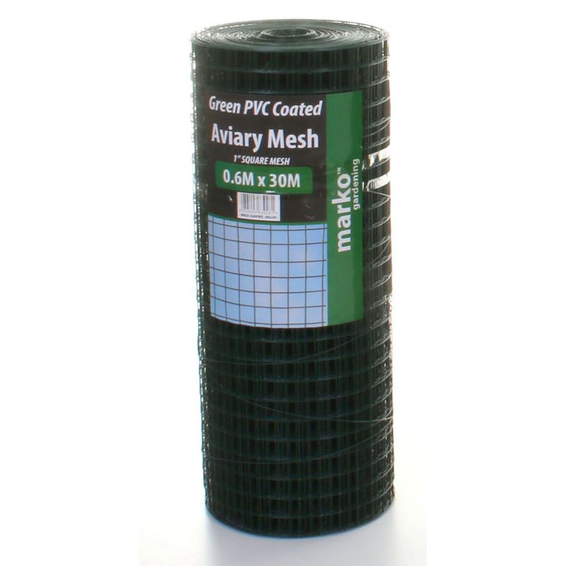Green PVC Coated Mesh - 0.6M x 30M