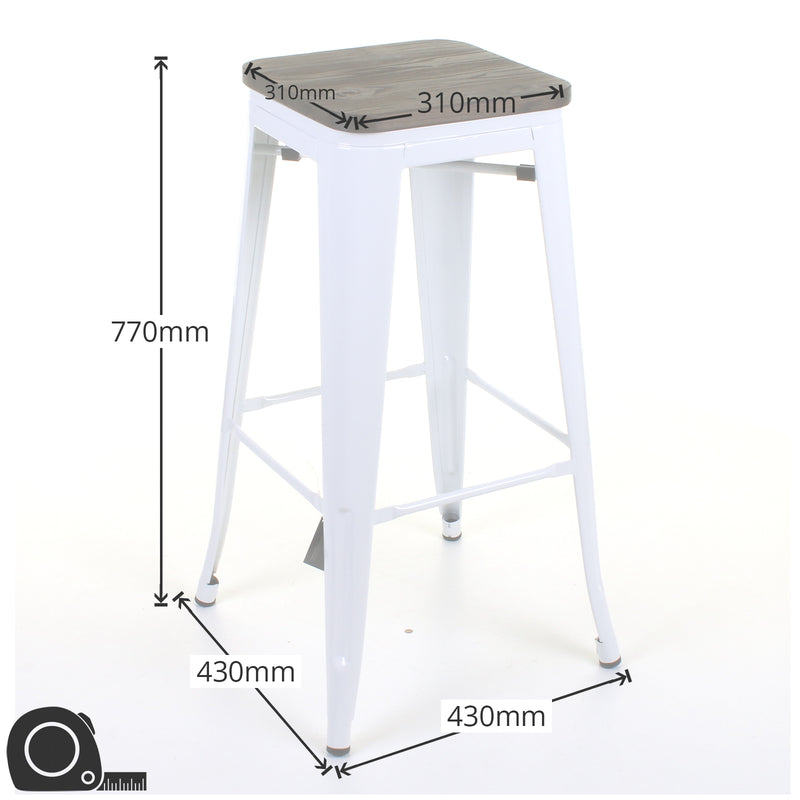 Firenze Bar Stool - White