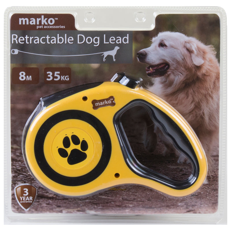 Retractable Dog Lead - Yellow