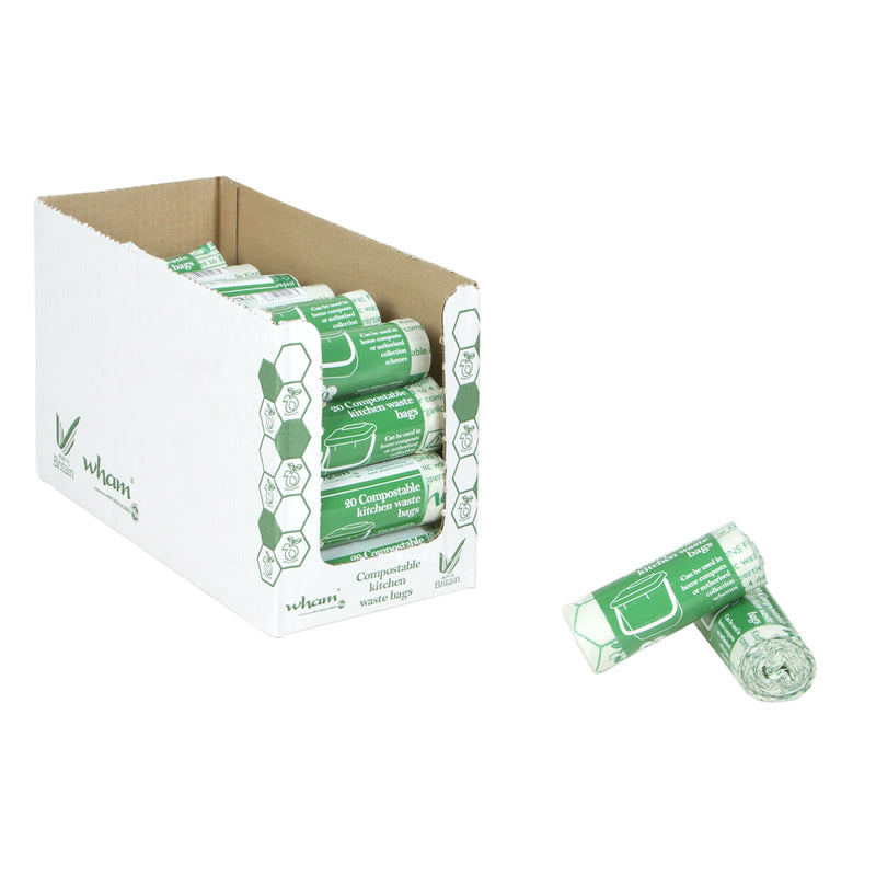 10L Compostable Kitchen Waste Bags (Roll of 20)