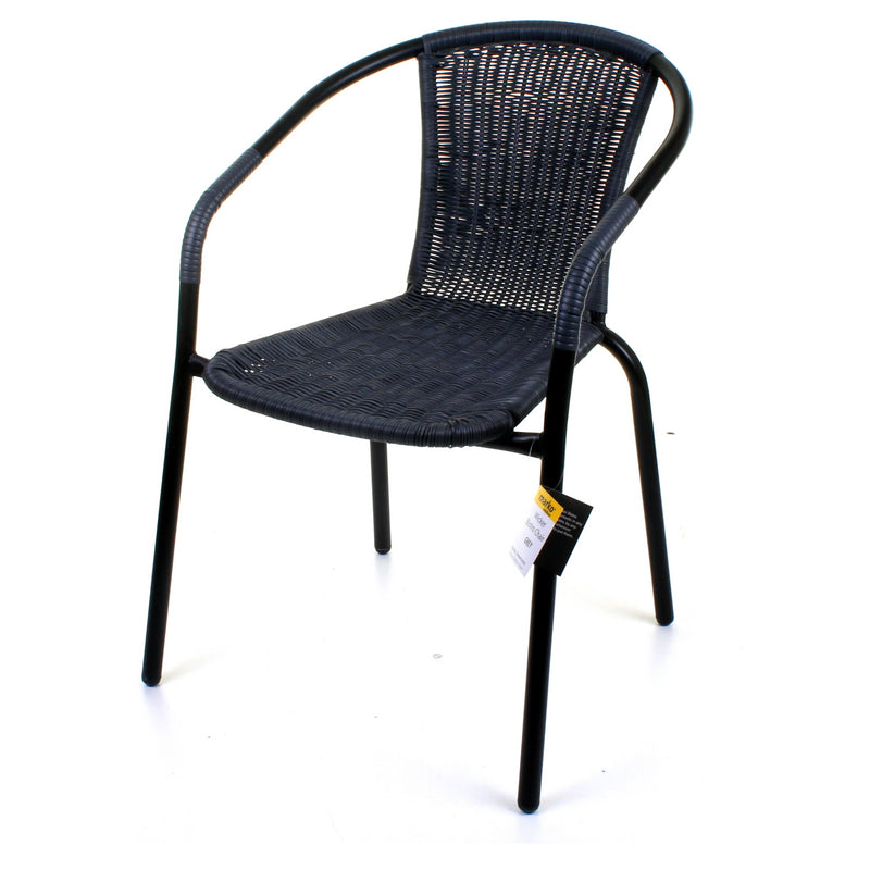 Grey Wicker Bistro Chair