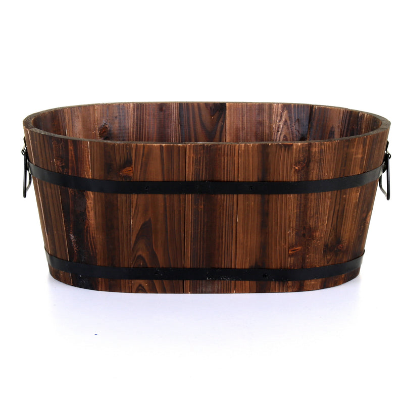 50cm Oval Burntwood Planter