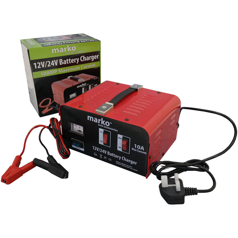 10AMP 12V/24V Battery Charger