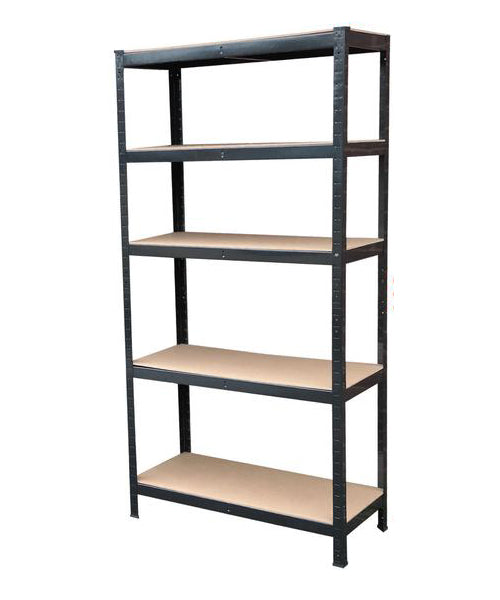 1.8M 5 Tier Metal Shelving Unit - Black