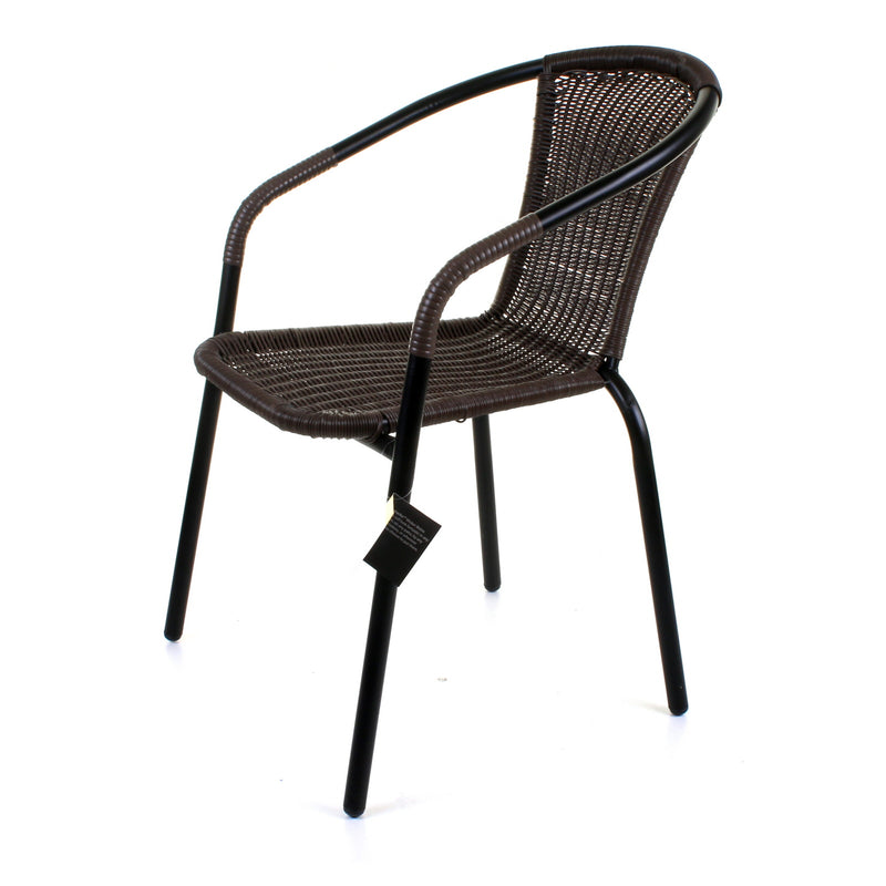3PC Dark Tan Wicker Bistro Set