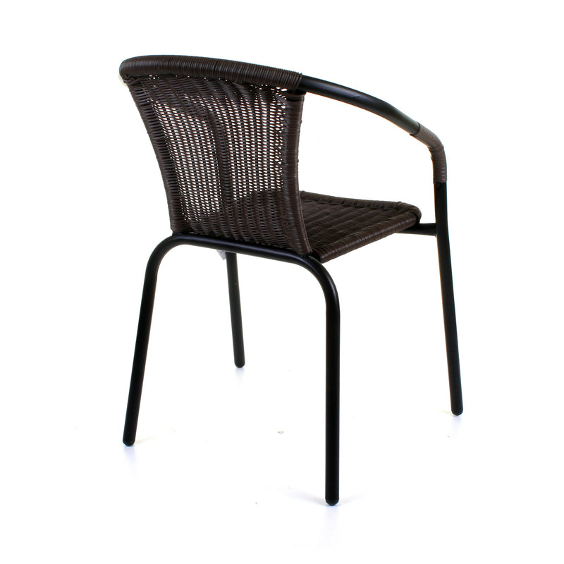 Dark Tan Wicker Bistro Chair