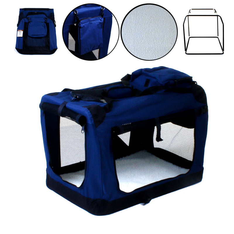 X - Large Fabric Pet Carrier - Navy Blue