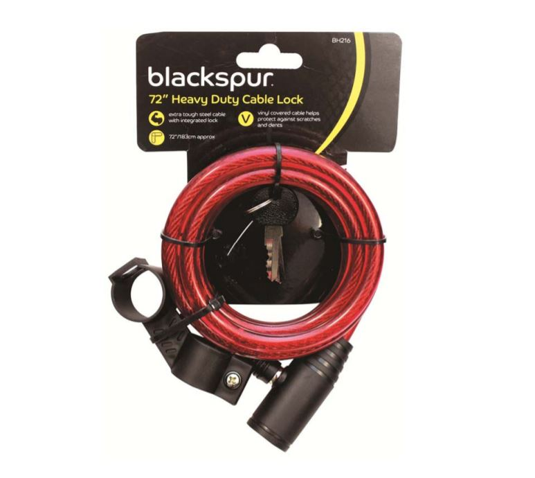 Heavy Duty Cable Bicycle Lock 72""