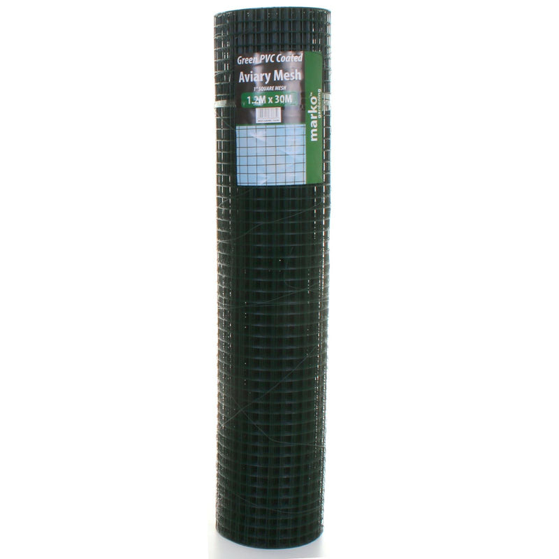 Green PVC Coated Mesh - 1.2M x 30M