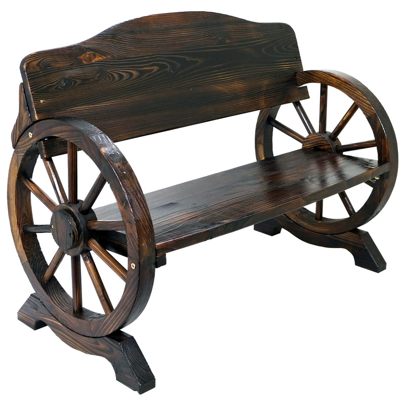 Cart Wheel Bench