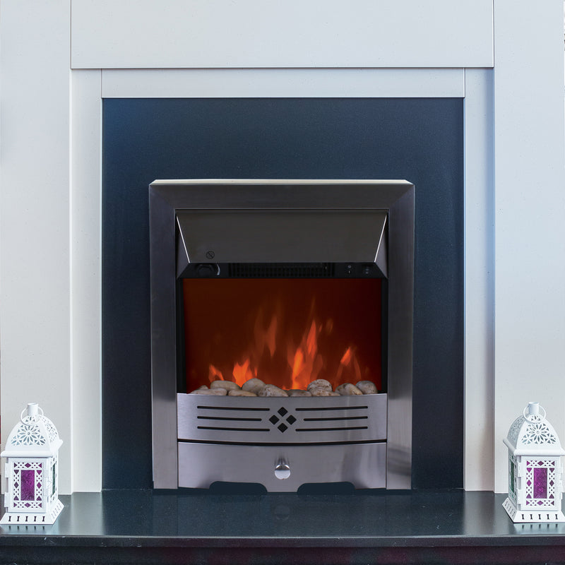 2000W Electric Fireplace - Silver
