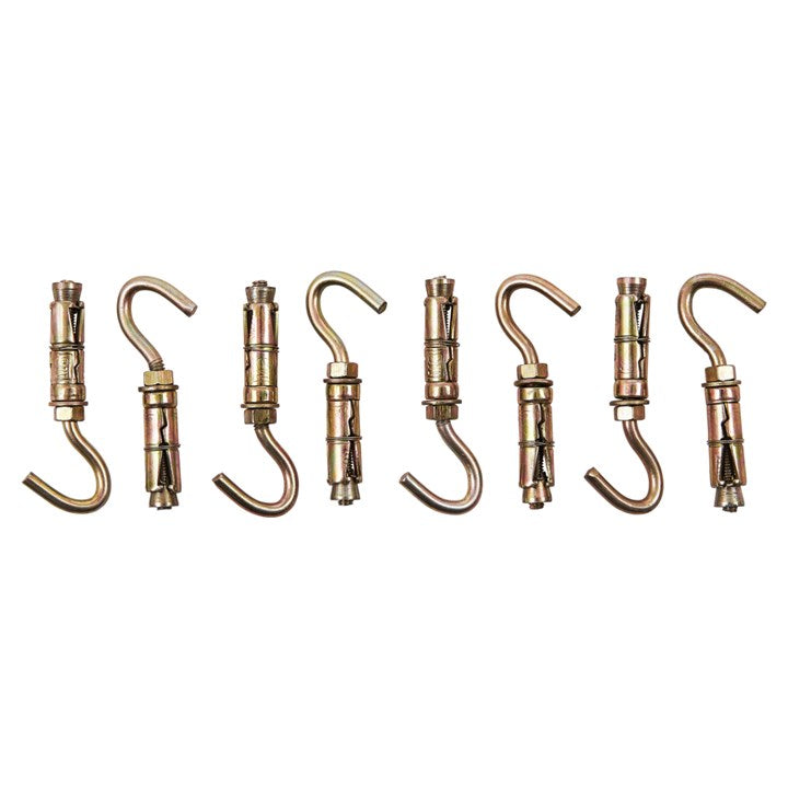 8pc 6mm Open Hook Bolts