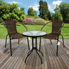 3PC Chocolate Wicker Bistro Set