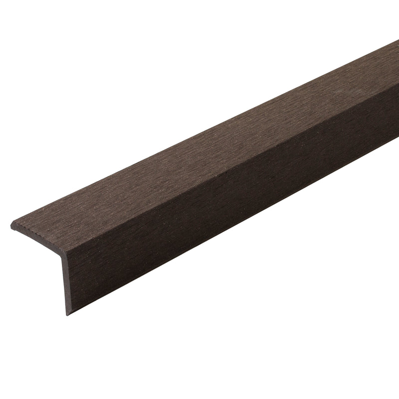 Composite Decking L Cover - Dark Oak - 2.9M