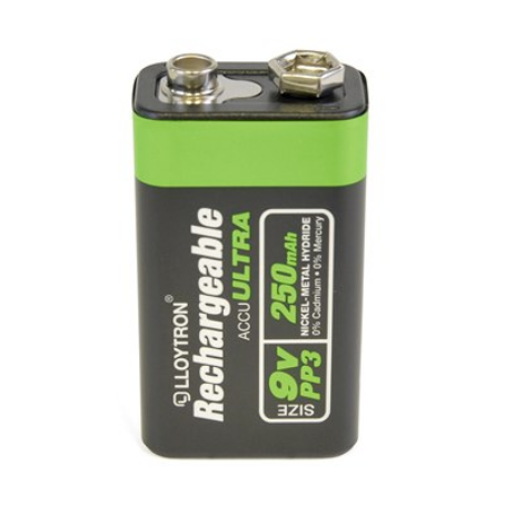 Rechargeable Batteries Size 9v 250mAh 1pk