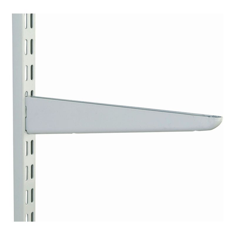 Twin Slot White Brackets 50.8mm base x 609.6mm