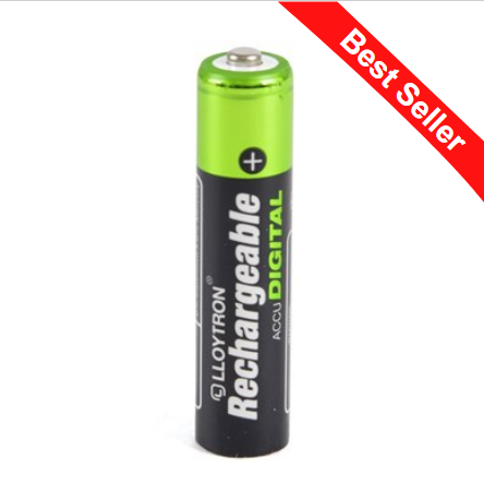 Rechargeable Batteries AAA 900mAh 4pk