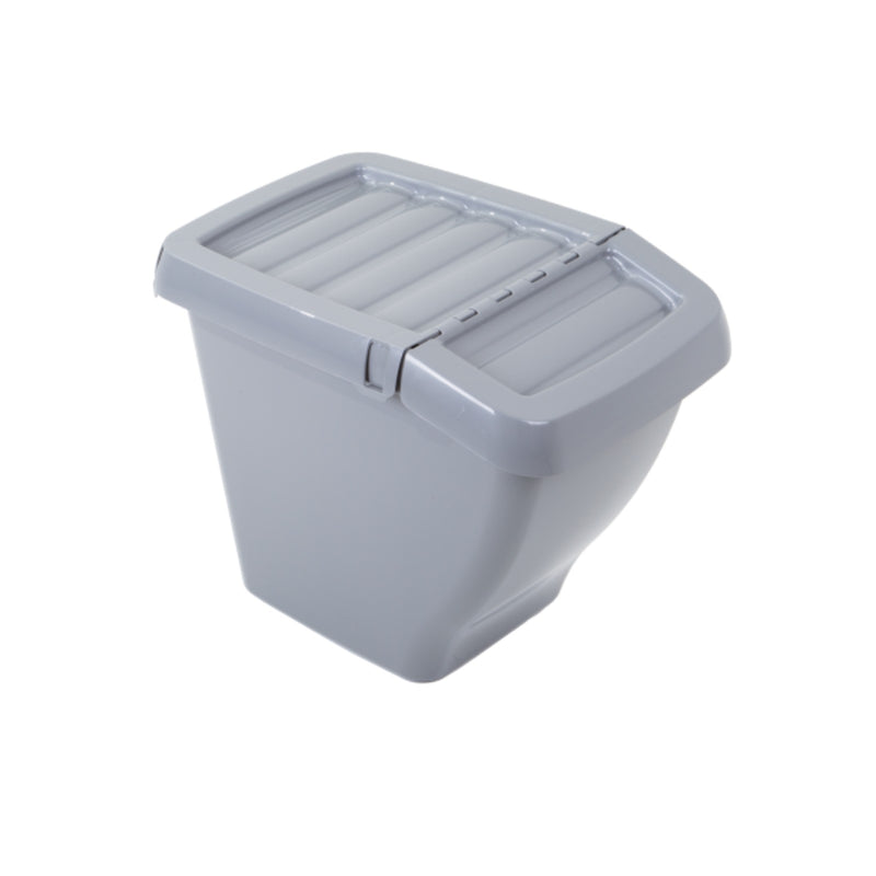 Recycle It 30L Bin with Hinged Lid Grey