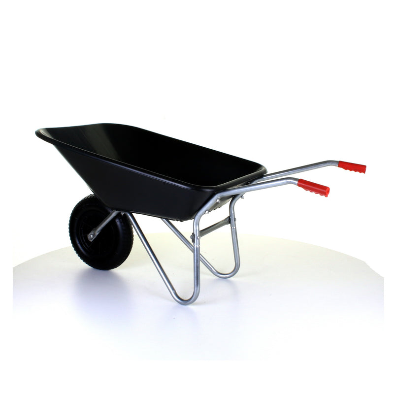 85L Plastic Wheelbarrow - Black