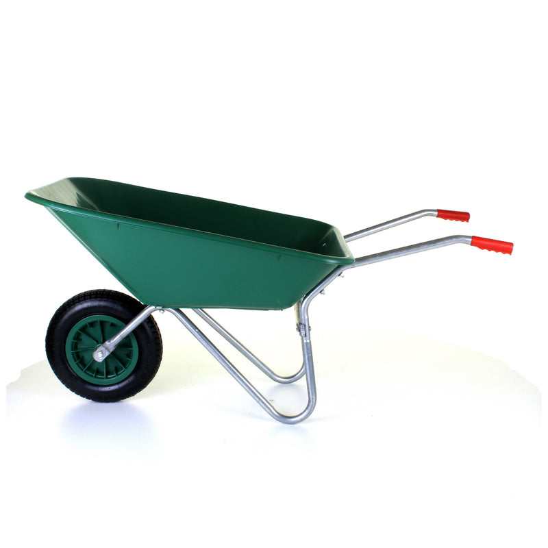85L Plastic Wheelbarrow - Green