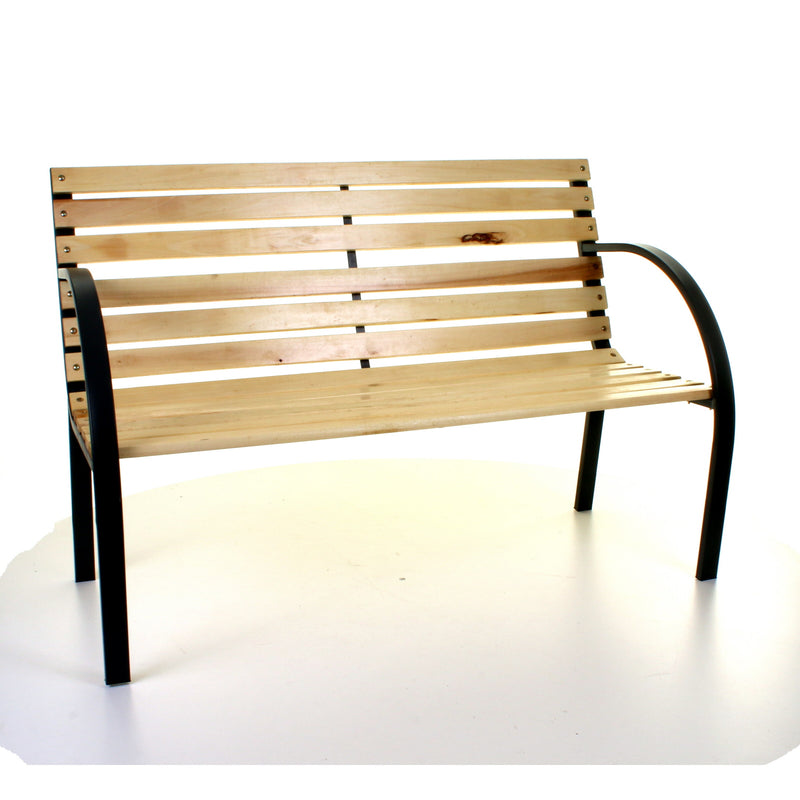 Slatted Wooden Bench
