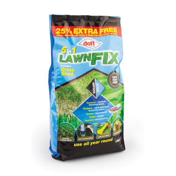 5 in 1 Lawn Fix + Grass Seed 2KG