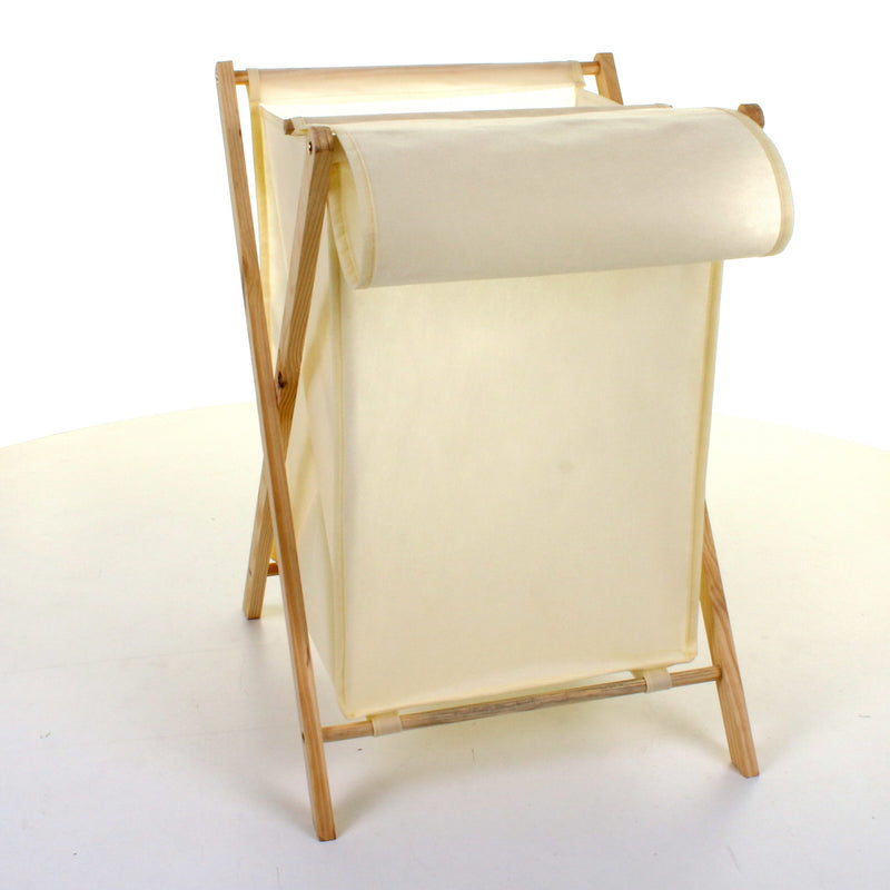 Folding Wood Frame Laundry Basket