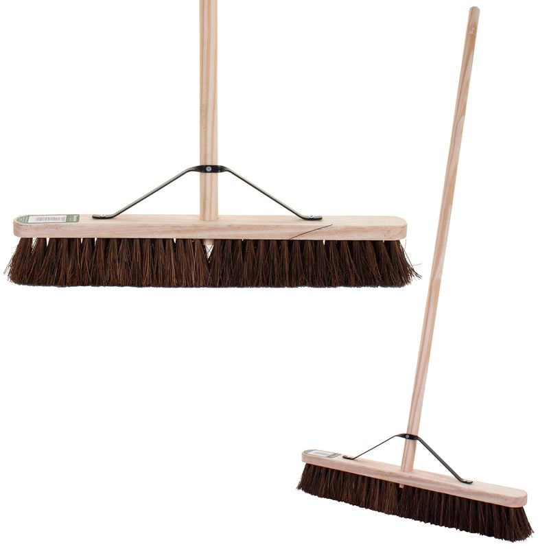 "24"" Stiff Bassine Broom with Handle"