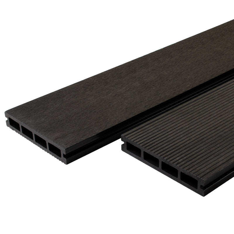 Composite Decking Board - Sanded Back - Dark Grey - 3.6M
