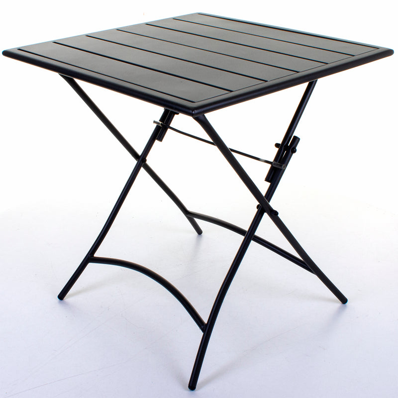 Slatted Bistro Folding Table - Sand Grey