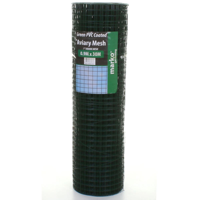 Green PVC Coated Mesh - 0.9M x 30M