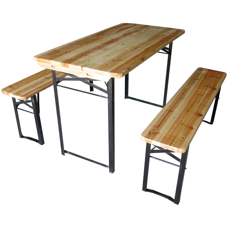 Folding Table & Bench Set